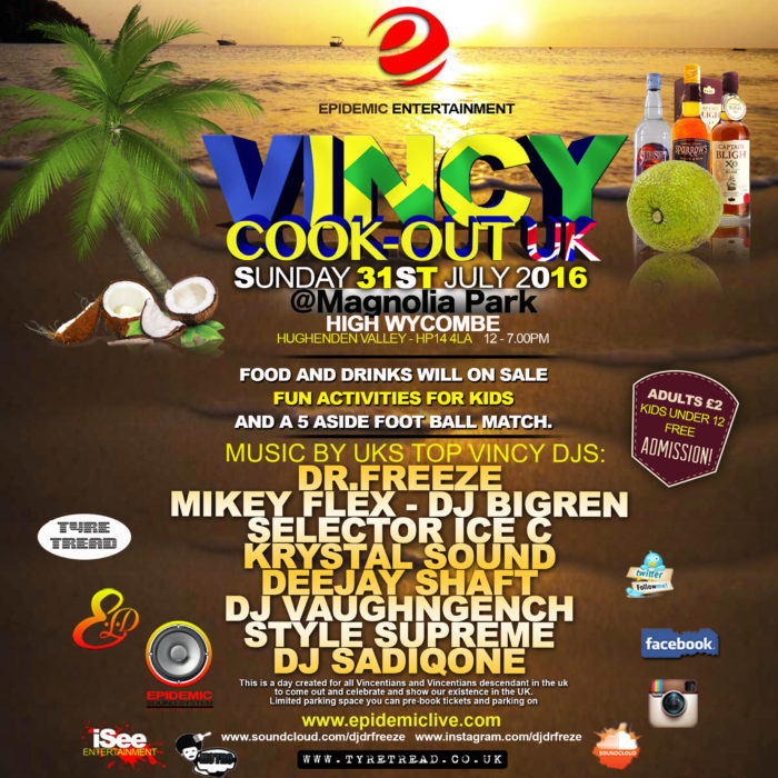 Vincy Cook-Out uk instagram
